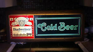 Classic Budweiser 1980 Electric cold Beer Sign
