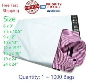Poly Mailers Plastic Envelopes Shipping Bags First Class Or Priority Shipping