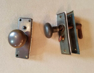 Vintage Lot Of Door Knobs Locks Interior Plates Hardware Architectural Salvage