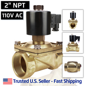 2 110 Volts Ac Normally Open Electric Brass Solenoid Valve N o 110 120 Vac