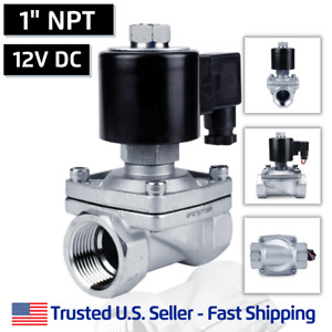 1 Ss 12v Dc Normally Open Stainless Steel Electric Solenoid Valve N o 12 Vdc