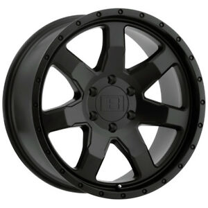 4 Level 8 Slam 20x9 5x150 9mm Matte Black Wheels Rims