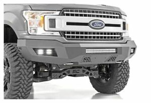 Rough Country Heavy Duty Front Bumper black 18 19 Ford F 150 10776