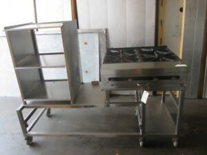 Southbend Commercial 4 burner Gas Grill Range Portable Catering Cart Prep Table