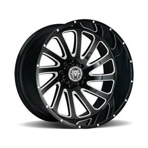 26 Inch 26x14 Hardcore Offroad Hc15 Black Milled Wheel Rim 6x5 5 6x139 7 76