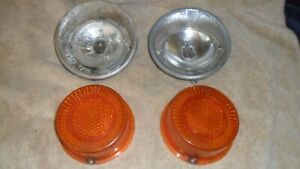 1970 Opel Gt Rear Turn Signal Parking Lamp Lens And Housing Set Hella