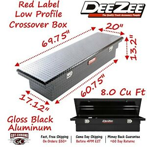 Dz8170lb Dee Zee Aluminum Truck Crossover Tool Box Lo Profile Single Lid Black