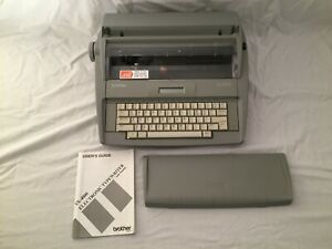 Brother Sx 4000 Portable Electric Typewriter Tested Works With Manual