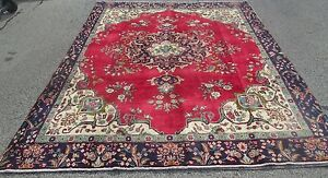 Weaver Signed Old Persian Oriental Room Size Rug Carpet 9 1 X 12 1 Nice