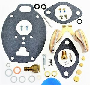 Carburetor Kit Float Adjustable Jet Massey Harris Mf 303 333g 1001 Tsx772 A42