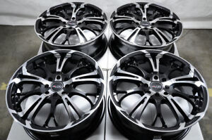 17 Wheels Honda Civic Accord Spark Escort Cooper Corolla Black Rims 4x100 4x114