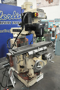 10 X 50 Used Chevalier 3 Axis Cnc Or Manual Use Vertical Mill Fm 32hp A3716