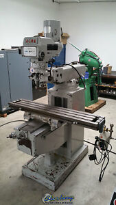 10 X 54 Used Acra Variable Speed Heavy Duty Vertical Milling Machine 1054 A394
