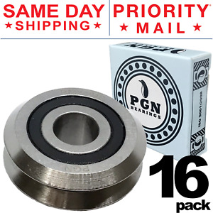 Lot Of 16 Pcs Rm2 2rs 3 8 Rubber Sealed V W Groove Roller Ball Bearing V guide