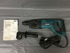 Used Makita Hr2455 120v Electric Corded 1 Rotary Hammer Drill
