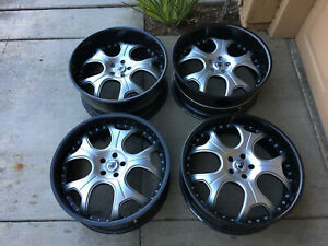 22 Modular 3 Pc Mercedes S Cl Audi Q Rare Asanti Forgiato Afc403 Wheels Rims Dub