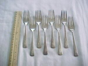 8 Salad Forks Wm A Rogers Silver Plate Nuart