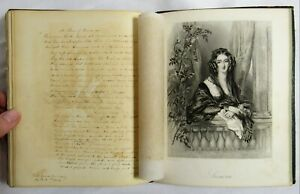 Antique 1846 Friendship Book New Haven Ct Yale Manuscript Poetry Leather Journal