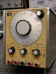 Hp 204d 5 Hz To 1 2 Mhz Oscillator tested Aligned And Working