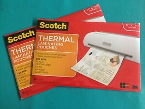 50 Pcs 2 Packs 25 Scotch 3m Menu Sign Size Thermal Laminating Pouches 11 X 17