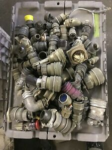 Large Lot Of Amphenol Electrical Plug Connector And Plug Large Flat Rate Box