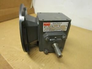 Dayton 4z006d Gearbox Speed Reducer 10 1 Ratio 75hp 1750rpm 182 In lbs