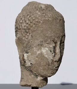 Large 15th 16th Century Sandstone Thai Buddha Head