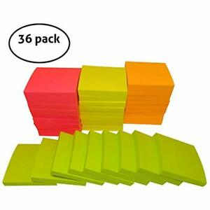 Memo Sticky Notes Best Value pack Of 36 Pads For Office Home School 3x3 100