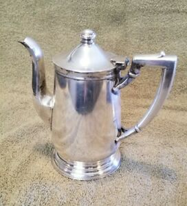 Vintage Silver Soldered 16 Oz Coffee Tea Pot International Silver Co