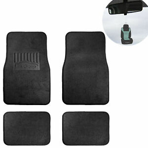 4pc Floor Carpet Mats For Auto Car Suv Van Universal Black W Gift