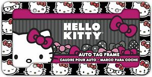 New Sanrio Hello Kitty Car Truck Suv Universal Fit License Plate Frame