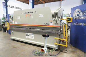 175 Ton X 14 Used Accurpress Hydraulic Press Brake With Light Curtains Mdl 7
