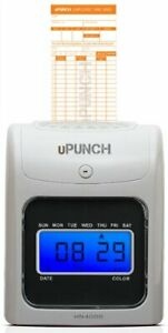 Upunch Hn4000 Electronic Calculating Punch Card Time Clock Bundle new r167