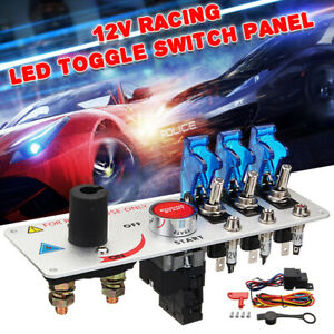 Universal Car Racing Led Toggle Ignition Switch Panel Engine Start Push Button
