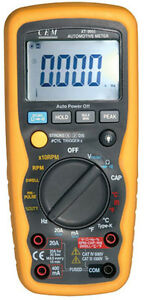 Automotive Car Digital Multimeter Ir Laser Thermometer Rpm Dwell Angle Pulse