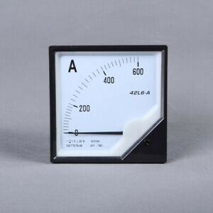1pc Analogue Needle Ampere Panel Meter 42l6 a 500 5a