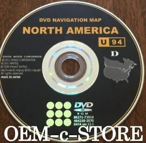 Genuine Oem Toyota Navigation Dvd Upated Disc Version U94 D 12 1 Map 2014 Disc