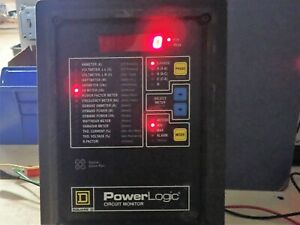 Square D Power Logic Circuit Monitor 3020 cm2350 Rs 485 3 Phase
