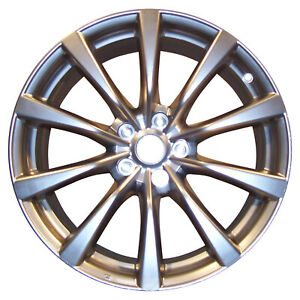 Oem Reman 19x9 Alloy Wheel Rear Light Smoked Hypersilver Full Face Painted 73705