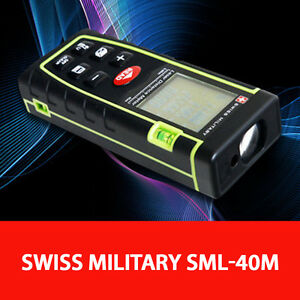 Swiss Military Sml 40m Laser Distance Meter 40m 2 0mm Accuracy 30 Memory Track