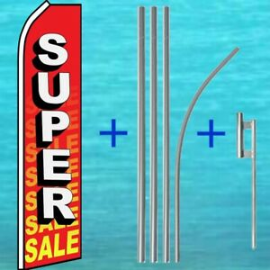 Super Sale Flutter Flag Pole Mount Kit Tall Curved Feather Swooper Banner Sign