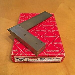 Starrett Solid 3 Steel Square No 20