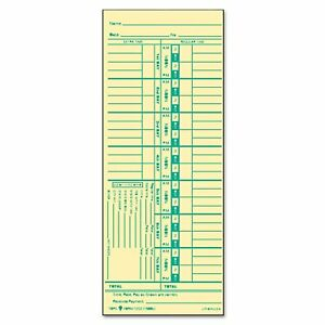 Tops Time Card For Acroprint And Lathem Weekly 3 1 2 X 9 500 box