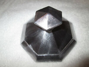 8 Sided Shade Holder For Bradley And Hubbard Slag Glass Panel Lamp With Finial
