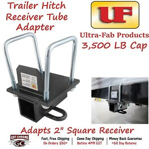 35 946402 Ultra Fab Trailer Hitch Receiver Tube 2 Square Adapter W 3500lb Cap