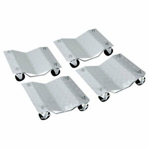 4 Auto Dolly Car Wheel Tire 12 X16 Skate 6000lb Slide New Rolling Rack