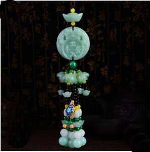 New Crystal Jade Green Jade Exquisite Car Interior Hanging Decoration Pendant