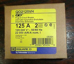 Square D Qo2125vh 125a 2 Pole 22k Circuit Breaker New