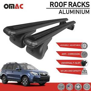 Aluminum Roof Rack Cross Bar Luggage Carrier Black For Subaru Forester 2014 2018