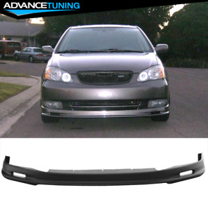 Fits 03 04 Toyota Corolla Mugen Style Front Bumper Lip Pp